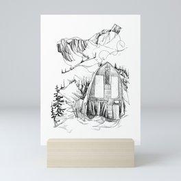 Wendy Thompson Hut - Single Line Mini Art Print