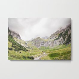 The Alps, Mountains, Landscape Scene Metal Print