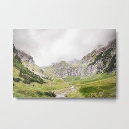 The Alps, Mountains, Landscape Scene Metal Print