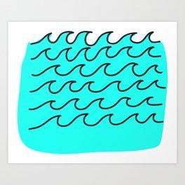 G Waves Art Print