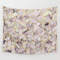 Vintage Marble Art Deco Pattern Wall Tapestry