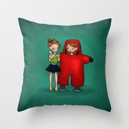 Toxic Friendship Throw Pillow