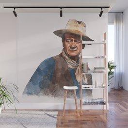 John Wayne - The Duke - Watercolor Wall Mural
