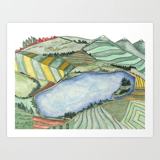 Landscape Print 2 Art Print