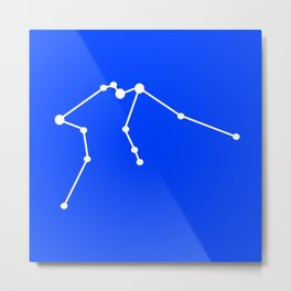 Aquarius (White & Blue) Metal Print