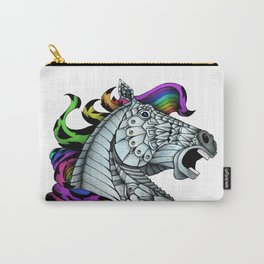 Ornate Color Horse Carry-All Pouch