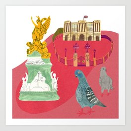 Queens House in England Art Print