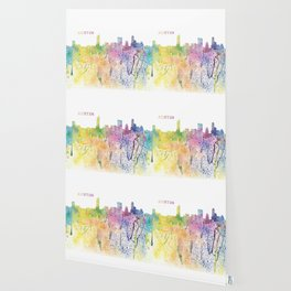 Austin Texas Skyline Impressionistic Splash Wallpaper