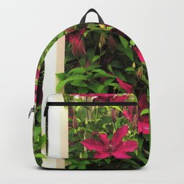 Rouge Cardinal Clematis 2 Backpack