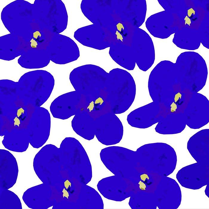 Blue Retro Flowers #decor #society6 #buyart Duvet Cover