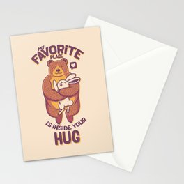 My Favorite Place Is Inside Your Hug Stationery Cards