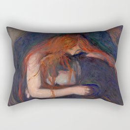 "Edvard Munch ""Vampire"", 1895 Rectangular Pillow"
