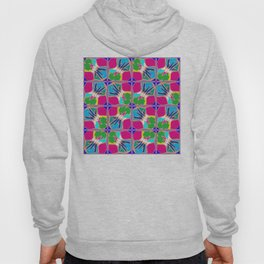 Tropical Shapes Pink Hoody