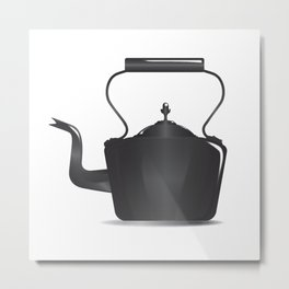 Victorian Black Kettle Metal Print