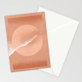 Minimalistic terracotta grainy painted Stationery Cards