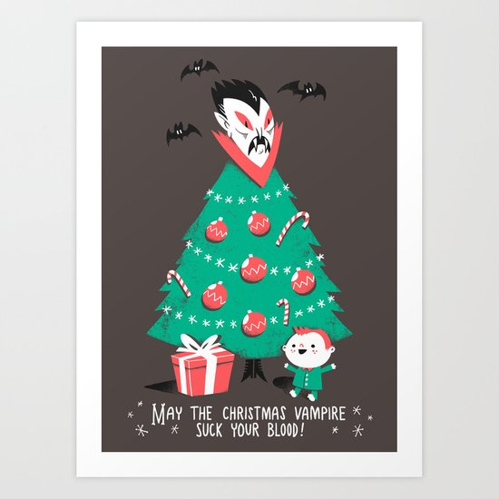 Return of the Christmas Vampire Art Print