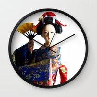 death cab for cutie Wall Clocks featuring Cutie by Khaled Ali