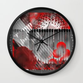 Pictures of Matchstick Men Wall Clock