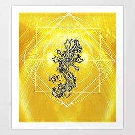 Gothic Cross: Divine Art Print