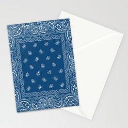 Bandana - Paisley - Southwestern - Classic Blue  Stationery Cards