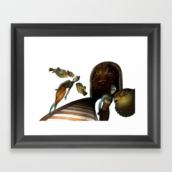 Off the rails. Framed Art Print