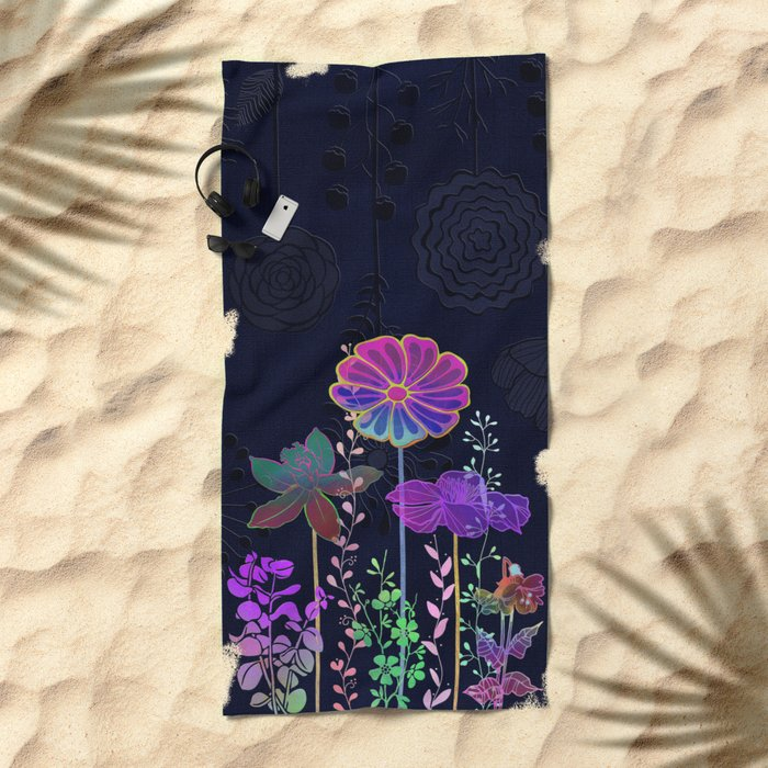 Flower Tales 3 Beach Towel