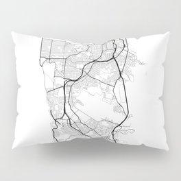 Minimal City Maps - Map Of San Francisco, California, United States Pillow Sham