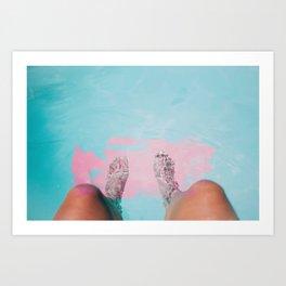 Both Feet In #society6 #buyart Art Print