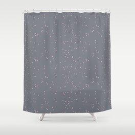 Gray Light Pink Shambolic Bubbles Shower Curtain