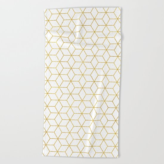 Gold + Geometric #society6 #decor #pattern Beach Towel