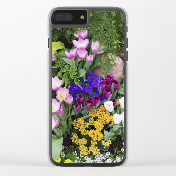 Floral Spectacular - Spring Flower Show Clear iPhone Case