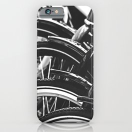 Bicycles, Bikes in Black and White Photography iPhone Case