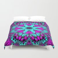 mandela Duvet Covers featuring Flowering for You mandela by thea walstra