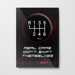 Real Driver - Real Car, Motorsport Rally Drifting Racing Metal Print