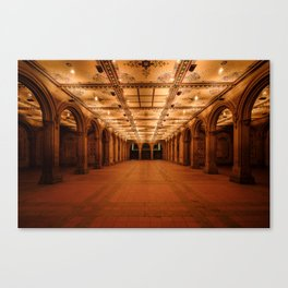 Bethesda Terrace in Central Park Canvas Print