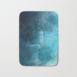 Aqua Teal Turquoise Textured Bath Mat