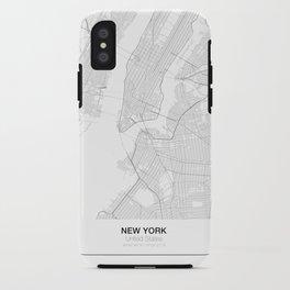 New York, United States Minimalist Map iPhone Case