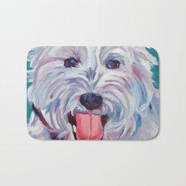 The Westie Kirby Dog Portrait Bath Mat