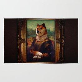 Doge Mona Lisa Fine Art Shibe Meme Painting Rug