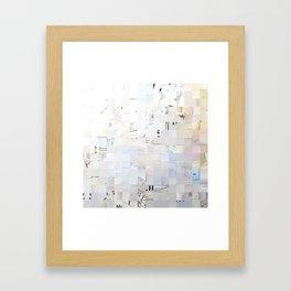 White, Photography Framed Art Print
