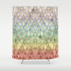 Rainbow Mermaid Scales Shower Curtain