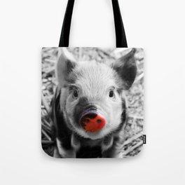 BW splash sweet piglet Tote Bag