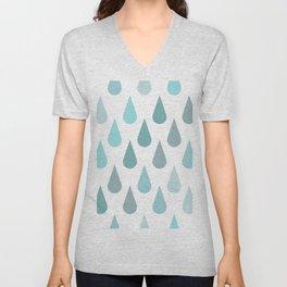 Rain Raindrops Unisex V-Neck