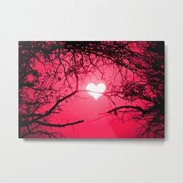 Forest Love Sunrise Metal Print