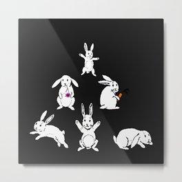 White rabbits Metal Print