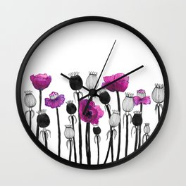 Poppy pod Wall Clock
