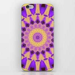 Bold Purple and Yellow Mandala iPhone Skin