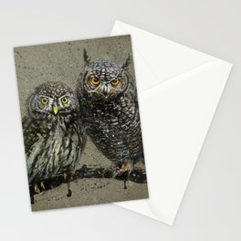 Little owl's background Stationery Cards