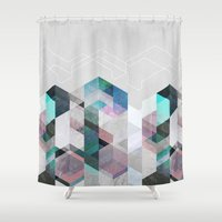 nordic Shower Curtains featuring Nordic Combination 23 by Mareike Böhmer