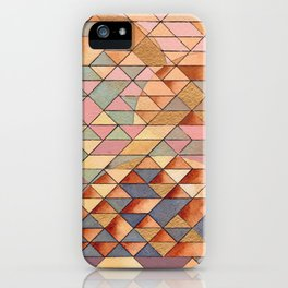 Triangles Circles Golden Sun iPhone Case